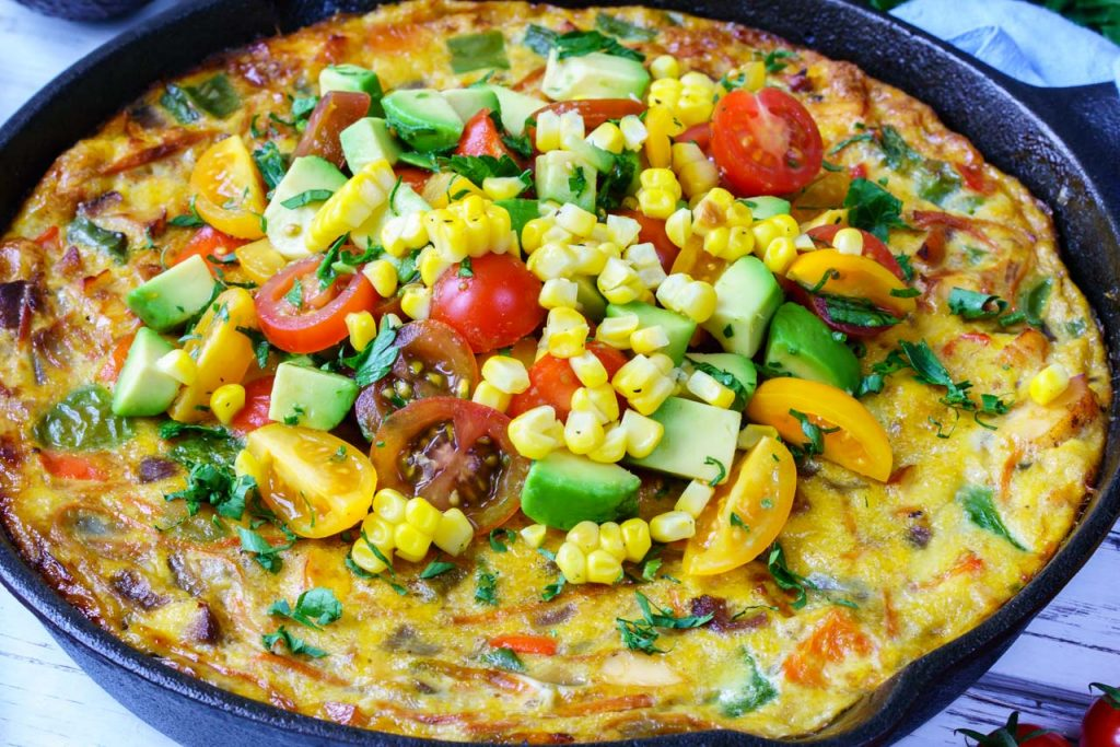 One-Pan Frittata Avocado Salsa CleanFoodCrush