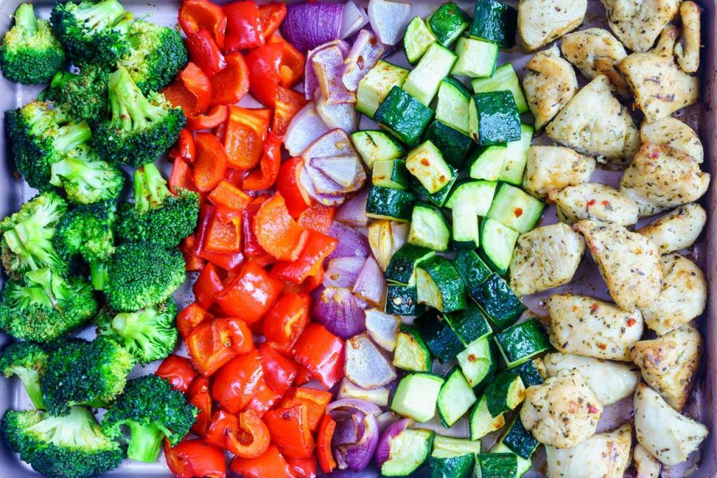 Roasted Chicken Veggies Clean Eating Meal Prep