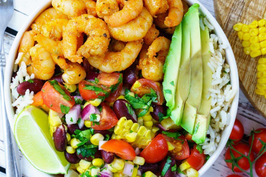 Spicy Shrimp Burrito Bowl Clean Eating