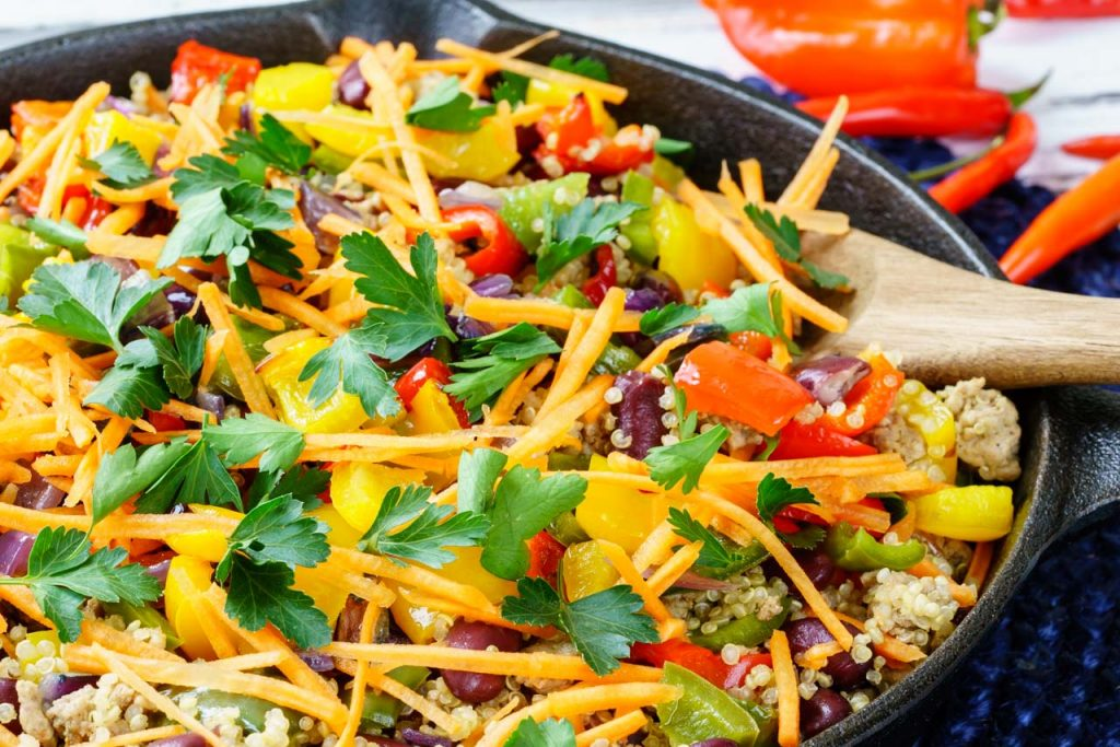 One pan spicy Taco Quinoa