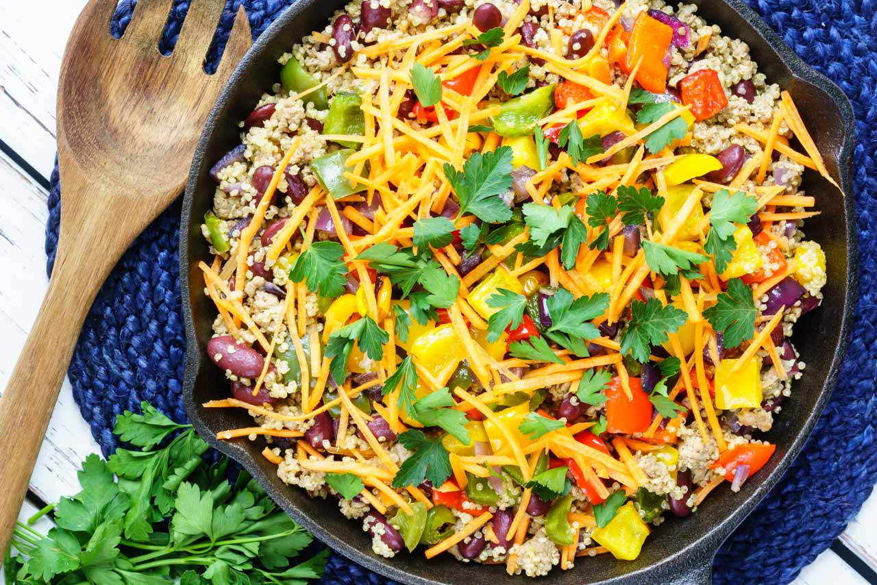 Spicy Taco Quiona Skillet CleanFoodCrush