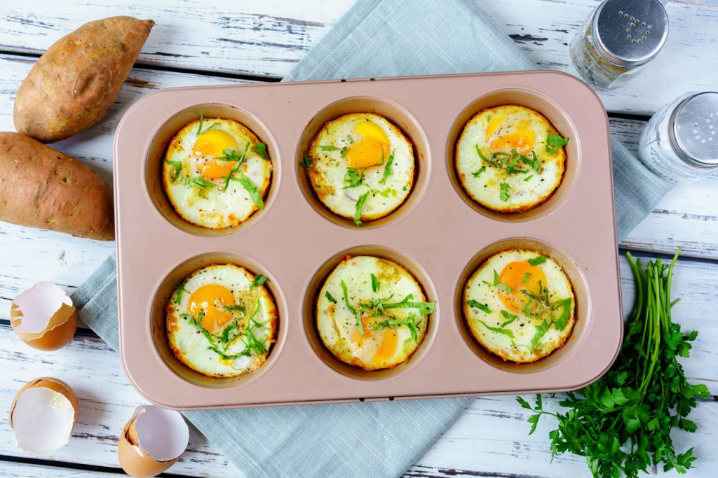 Sweet Potato Egg Cups CleanFoodCrush