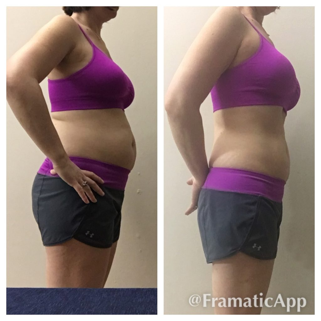 Angie Before and After CleanFoodCrush 30 Day Clean Eating Challenge