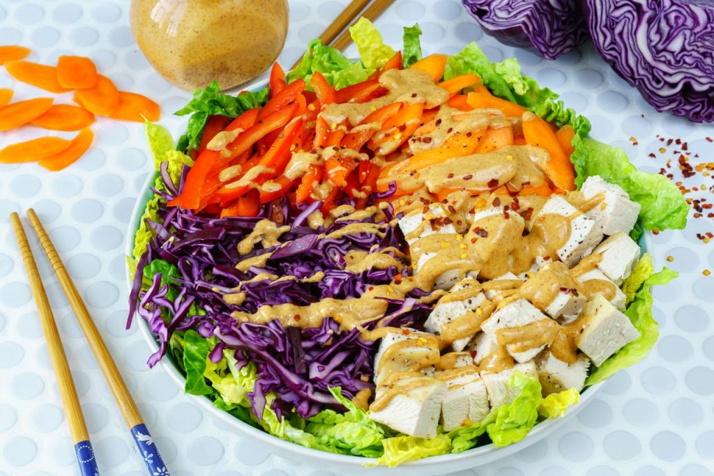 Colorful Chopped Chicken Salad