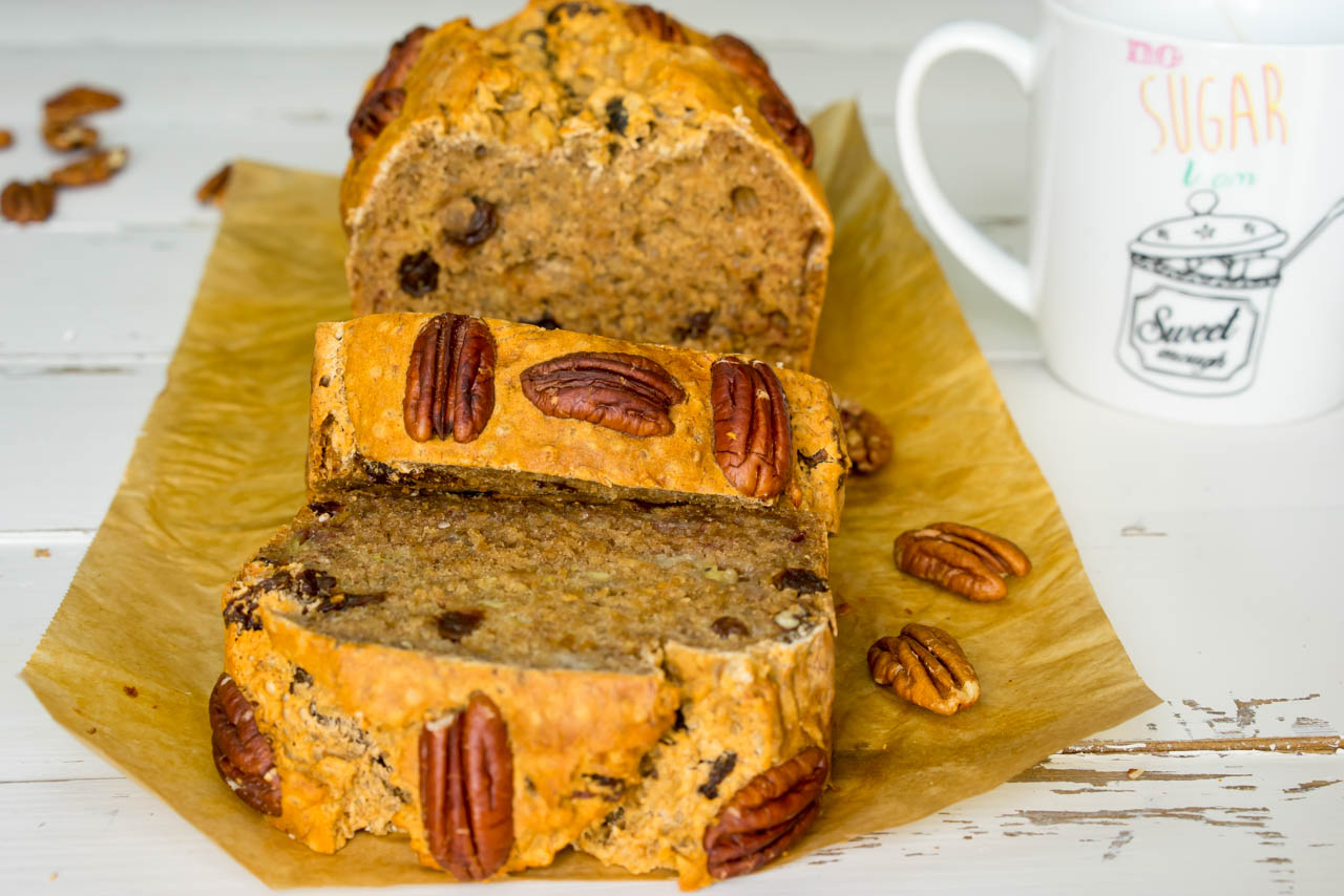 Banana Bread with Pecans CleanFoodCrush