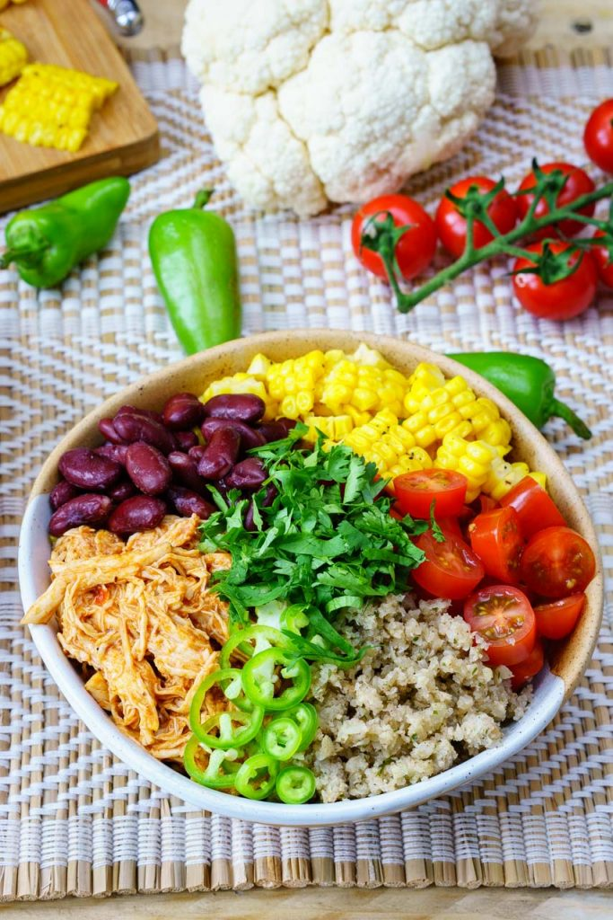 Real Clean Food Chicken Enchilada Bowl