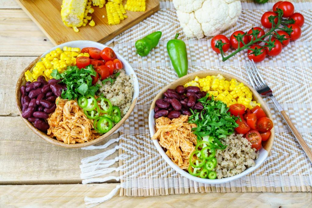 Chicken Enchilada Cauliflower Rice Bowl Recipe