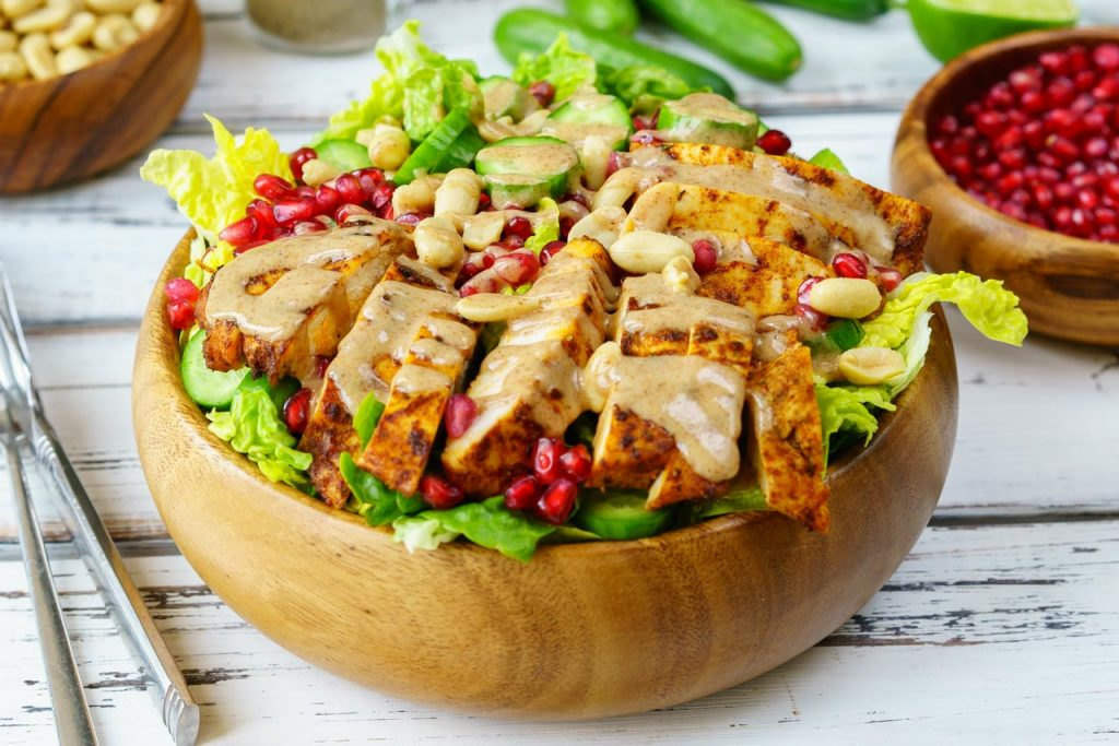 Chicken Satay Salad Bowl
