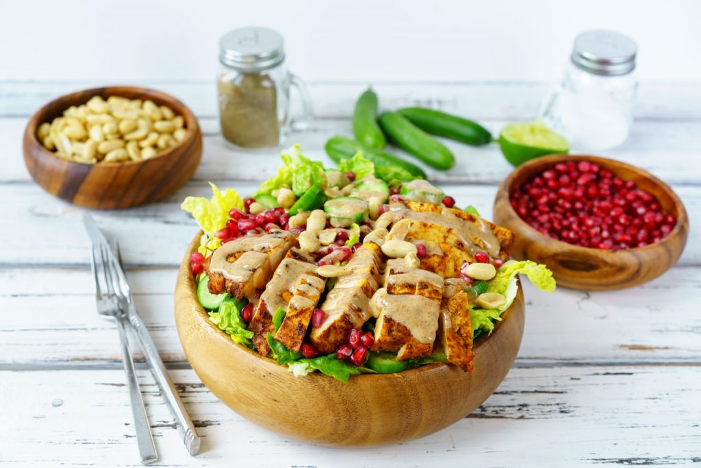 Clean Chicken Satay Salad Recipe