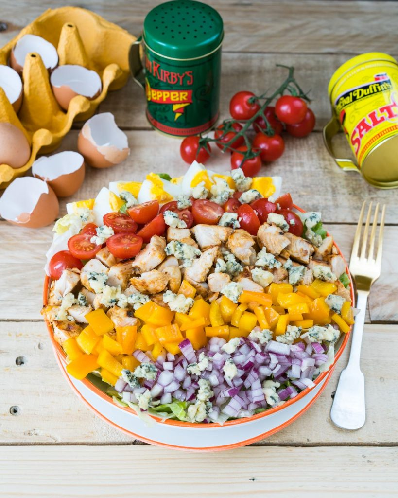 Clean Eating Buffalo Chicken Cobb Salad