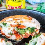 Clean Eating Sun-dried Tomato, Kale Mozzarella Stuffed Chicken