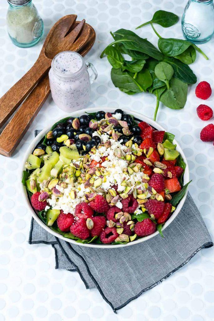 Berry Feta Spinach Salad Bowl Recipe