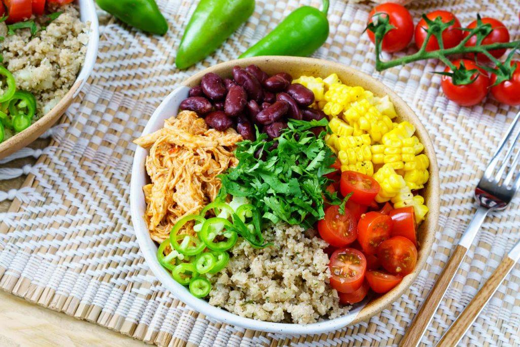 CleanFoodCrush Chicken Enchilada Cauliflower-Rice Bowls