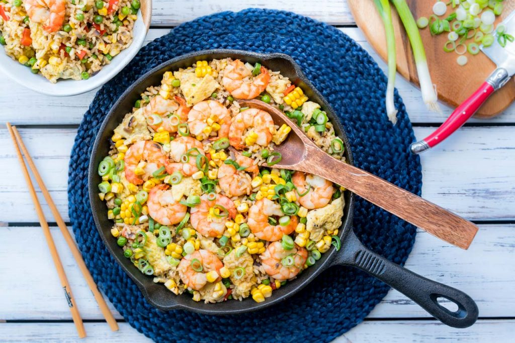 Fried Rice Shrimp Meal