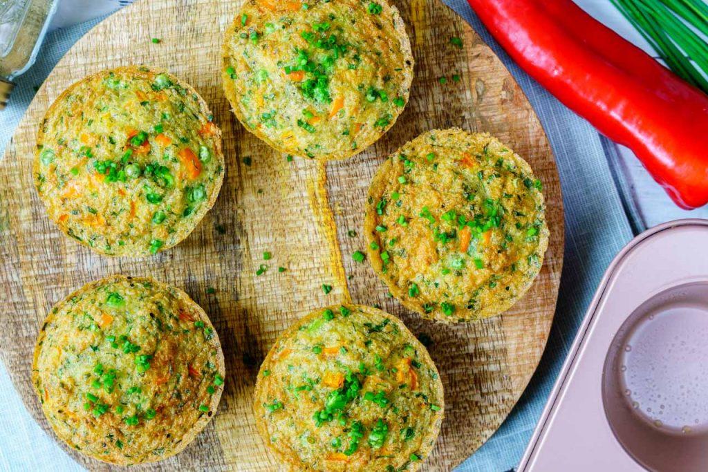 Quinoa Veggie Egg Frittata Muffins