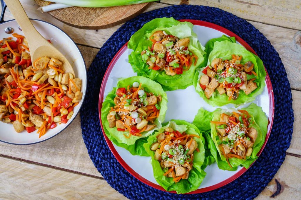 Teriyaki Chicken Lettuce Wraps Dinner Meal