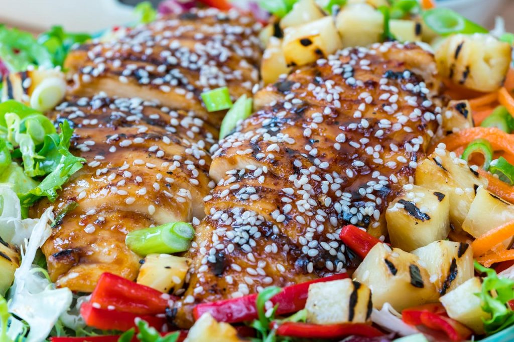 Teriyaki Chicken Salad Recipe Homemade Pineapple Sauce