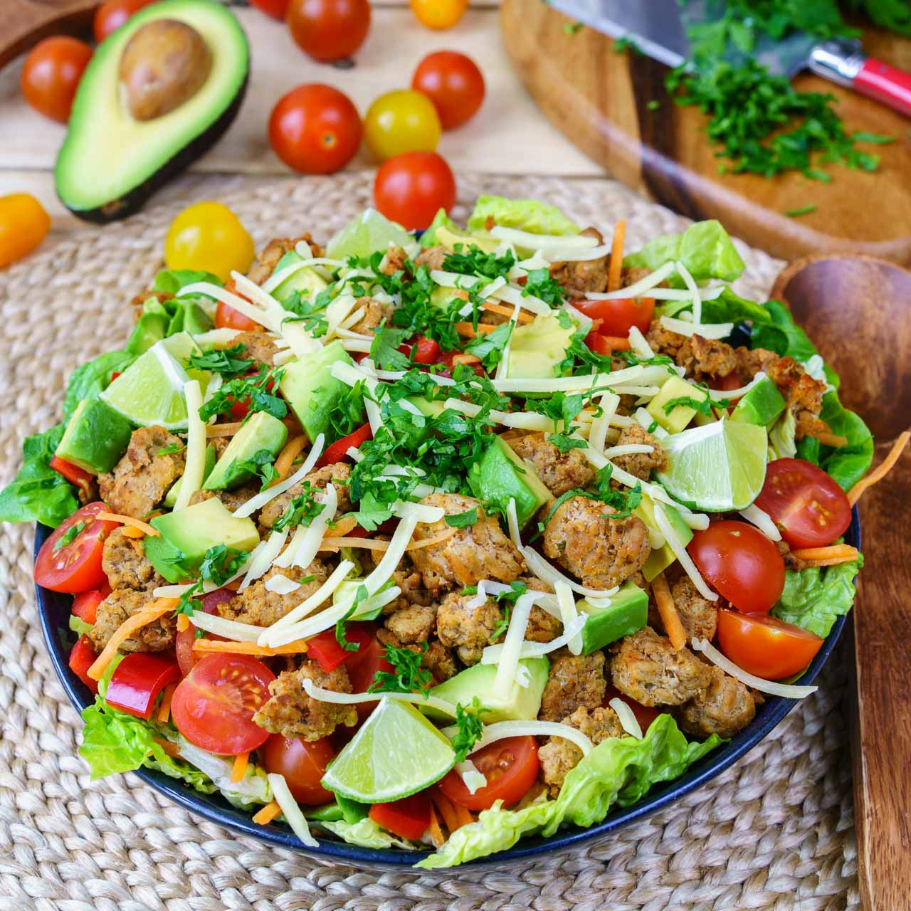 CleanFoodCrush Turkey Taco Salad