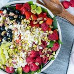 Eat Clean Berry Feta Spinach Salad + Fresh Strawberry Dressing