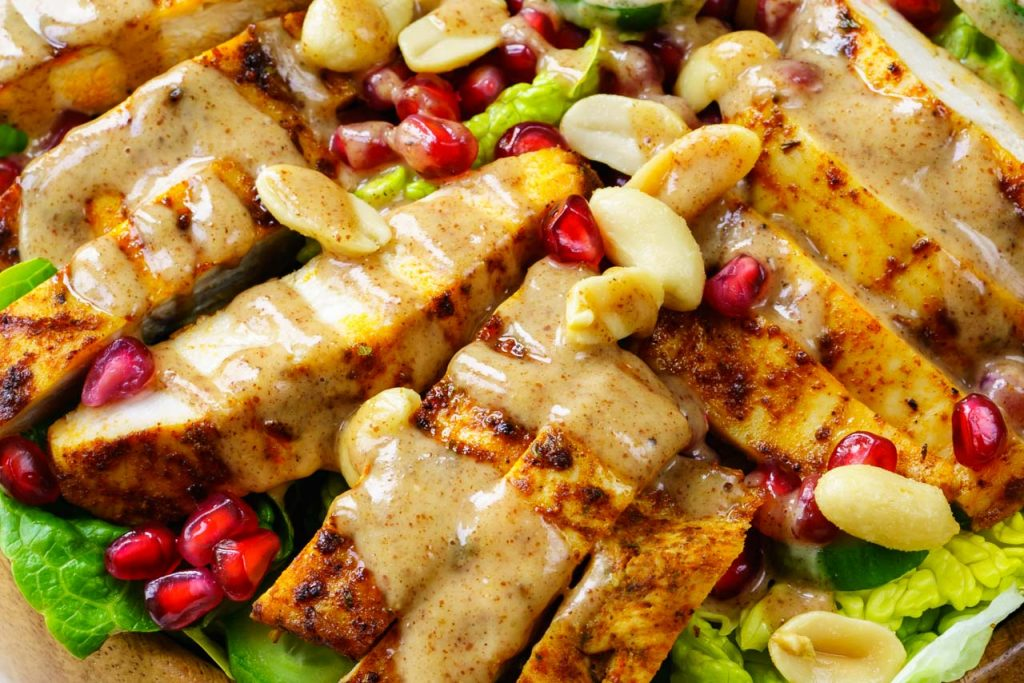 Eat Clean Chicken Satay Salad