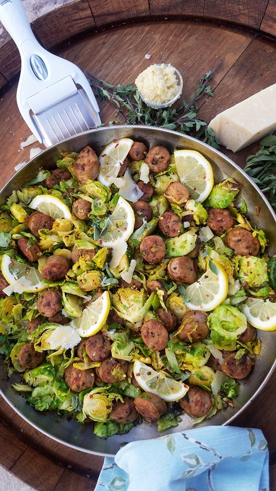 Italian Sausage and Shaved Brussel Sprouts