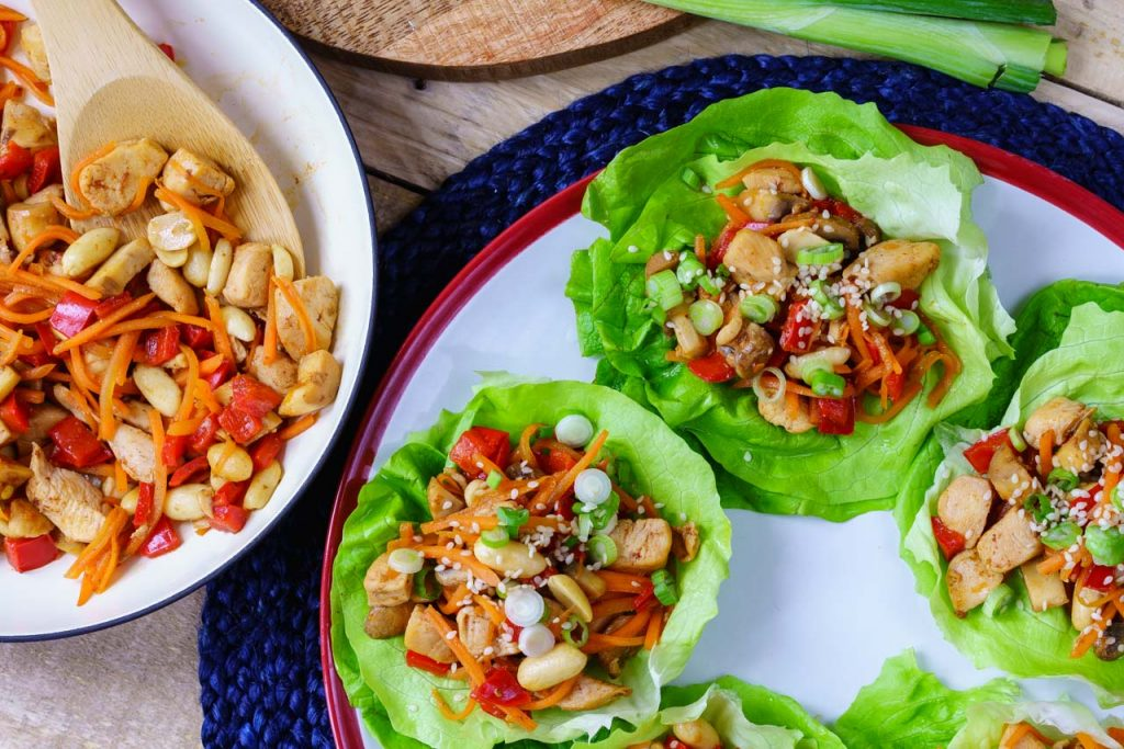 Eat Clean Teriyaki Chicken Lettuce Wraps