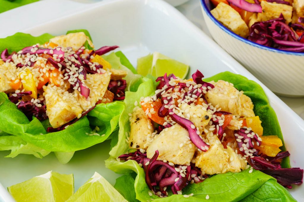 Clean Food Thai Chicken Lettuce Wraps