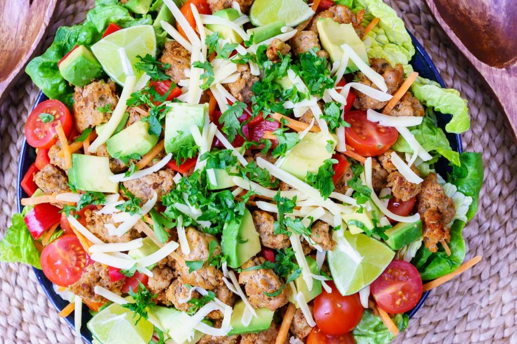 Eat Clean Turkey Taco Salad Recipe