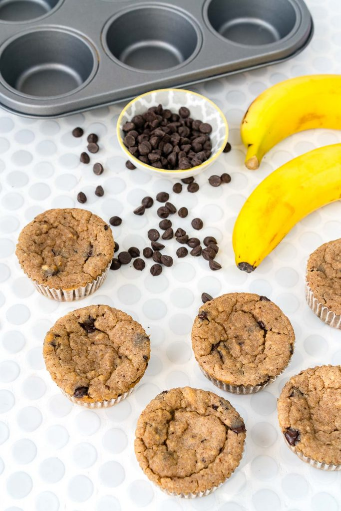 Banana Chocolate Chip Cup Cake Cookies