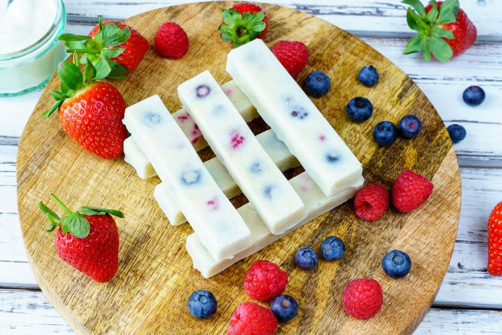 Frozen Yogurt Berry Bites Clean Dessert