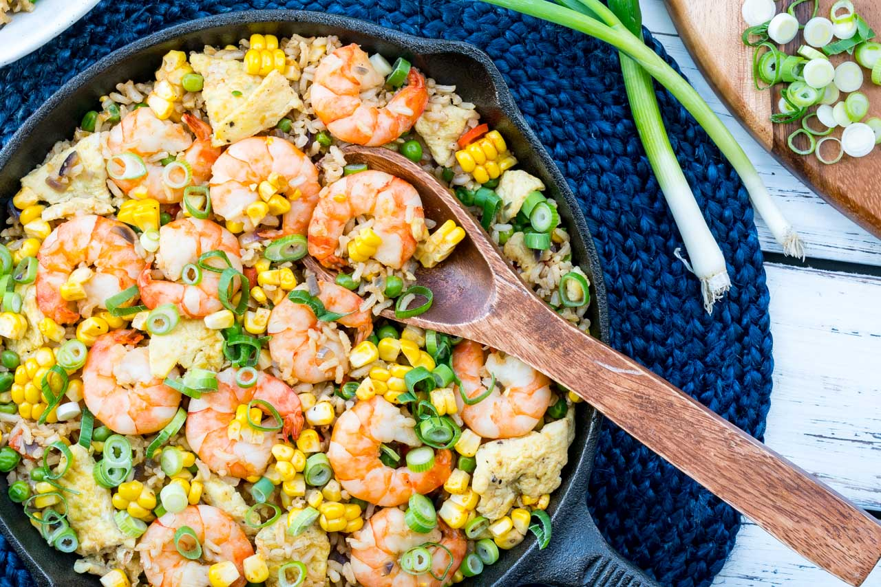 Healthified Fried Rice + Shrimp Recipe