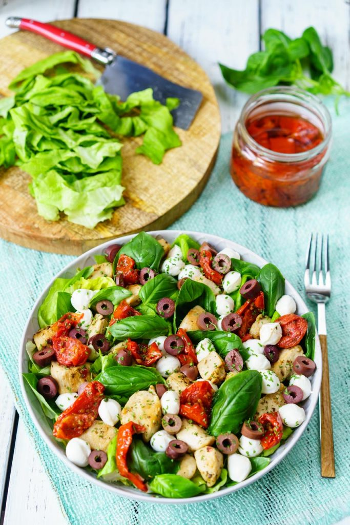 Italian Chicken Salad and Balsamic Vinegar Dressing