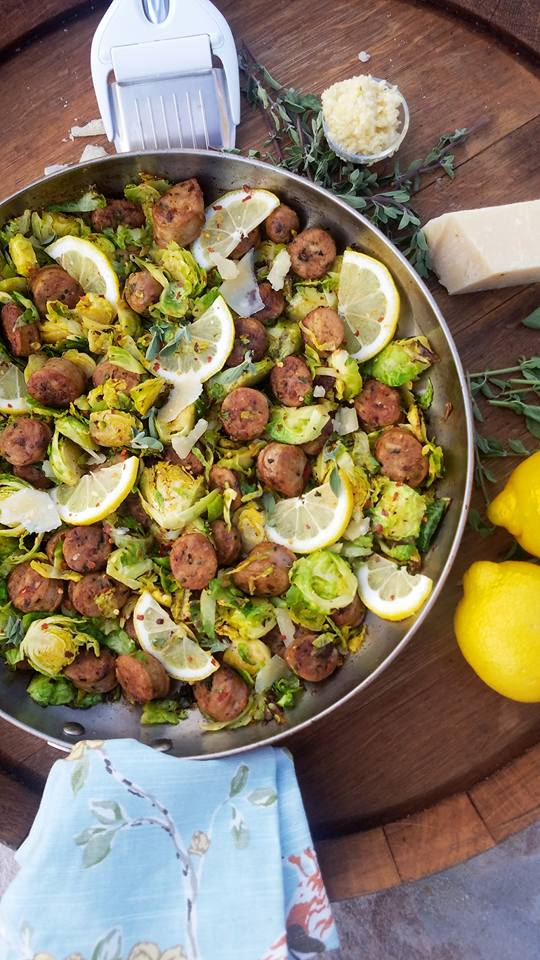 Clean Italian Sausage and Shaved Brussel Sprouts Recipe