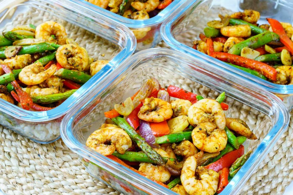 Meal Prep One Sheet Pan Shrimp Fajitas