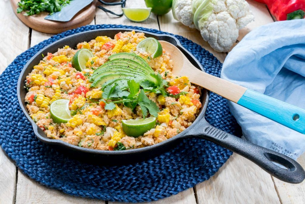 Mexican Turkey Cauliflower Rice Recipe