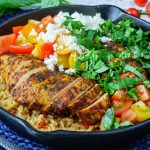 One Pan Greek Chicken + Rice CleanFoodCrush