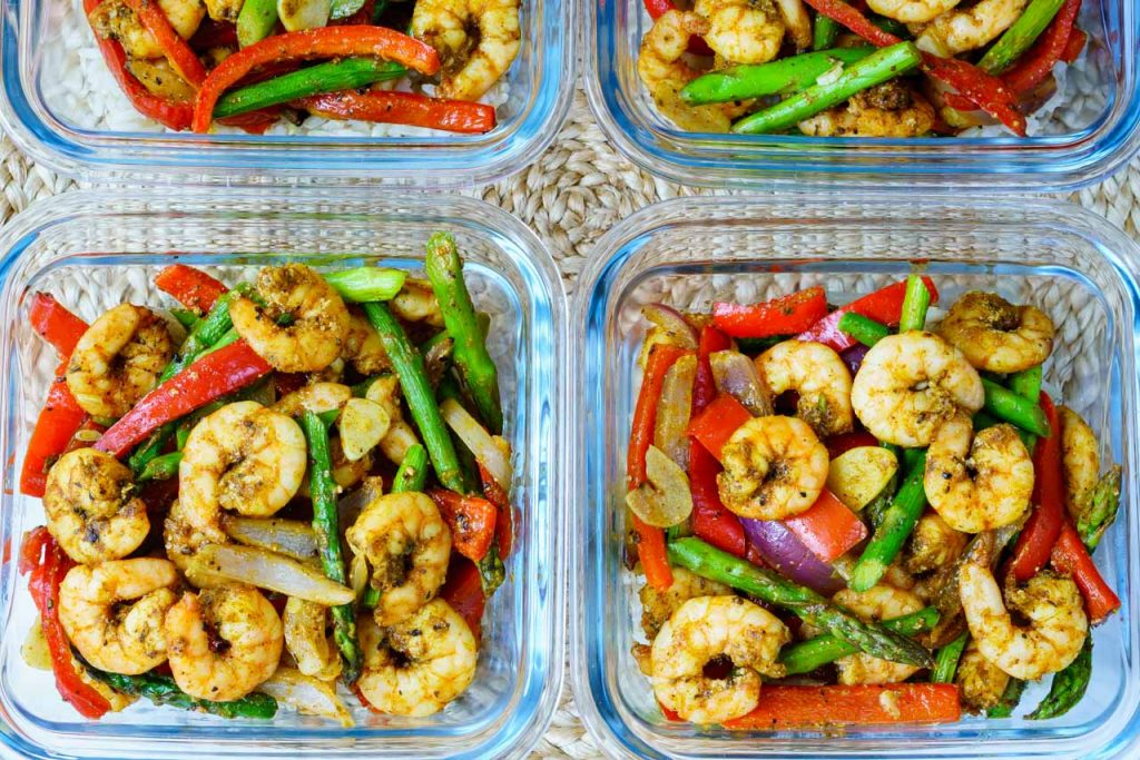 One Pan Shrimp Fajitas CleanFoodCrush