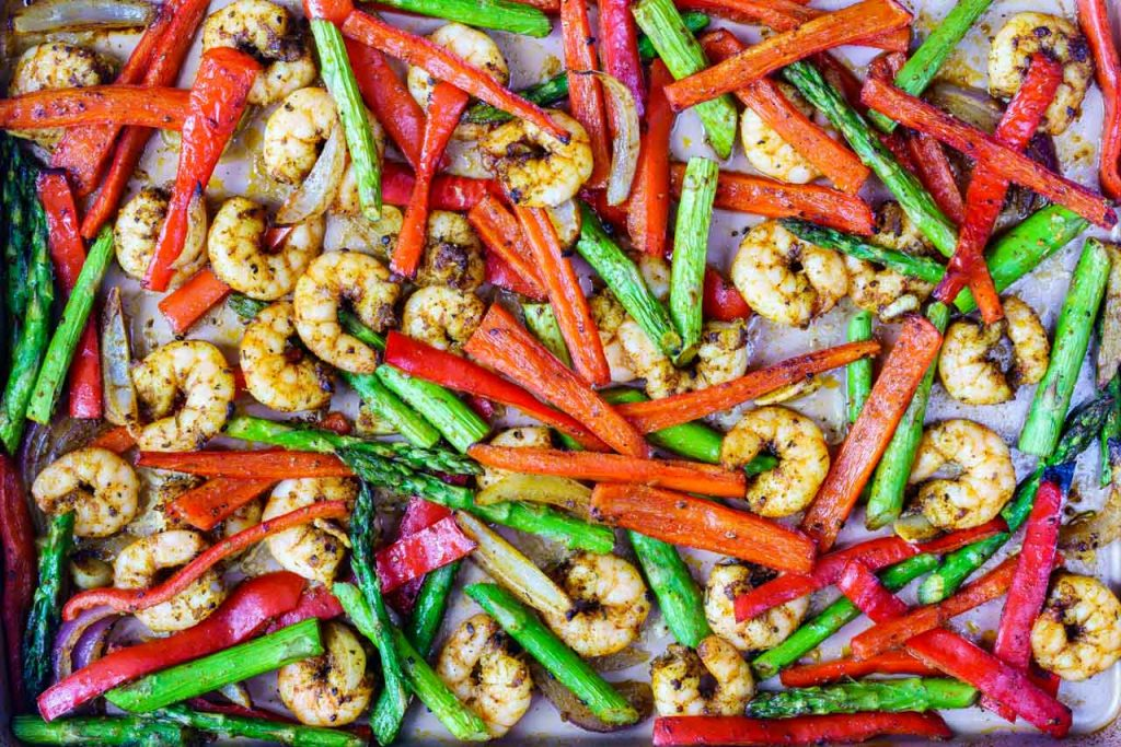 One Sheet Pan Shrimp Fajitas Meal Prep Recipe