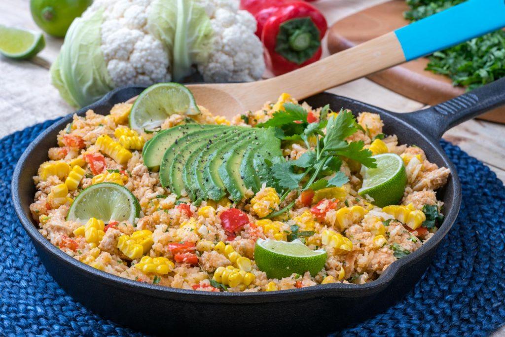 Quick Mexican Turkey Cauliflower Rice