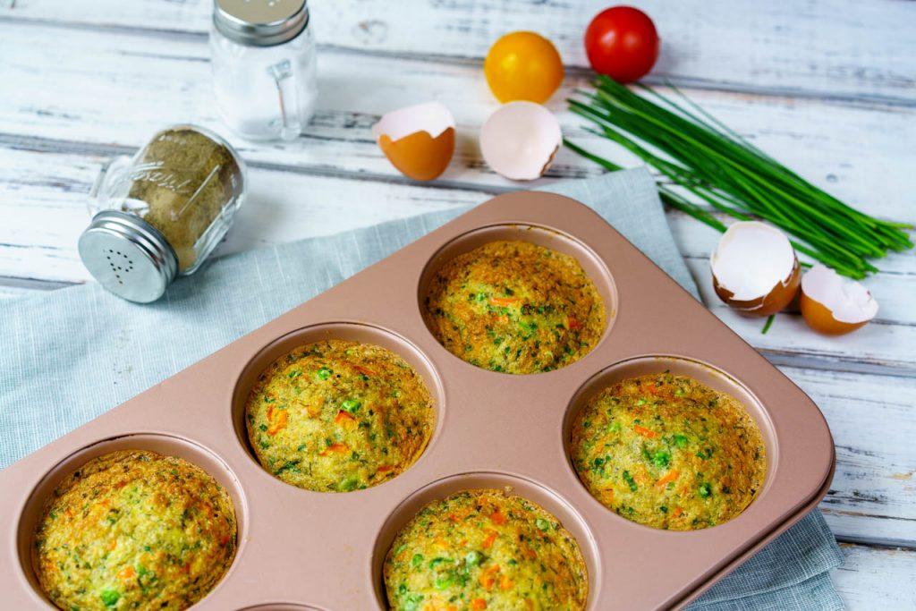 Fresh Quinoa Veggie Egg Frittata Muffins
