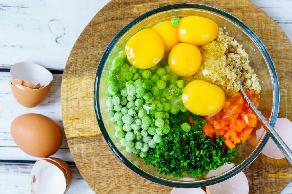 Quinoa Veggie Egg Frittata Muffins Meal