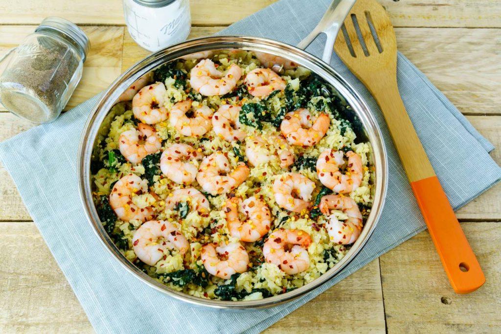 Spicy Shrimp Cauliflower Rice CleanFoodCrush