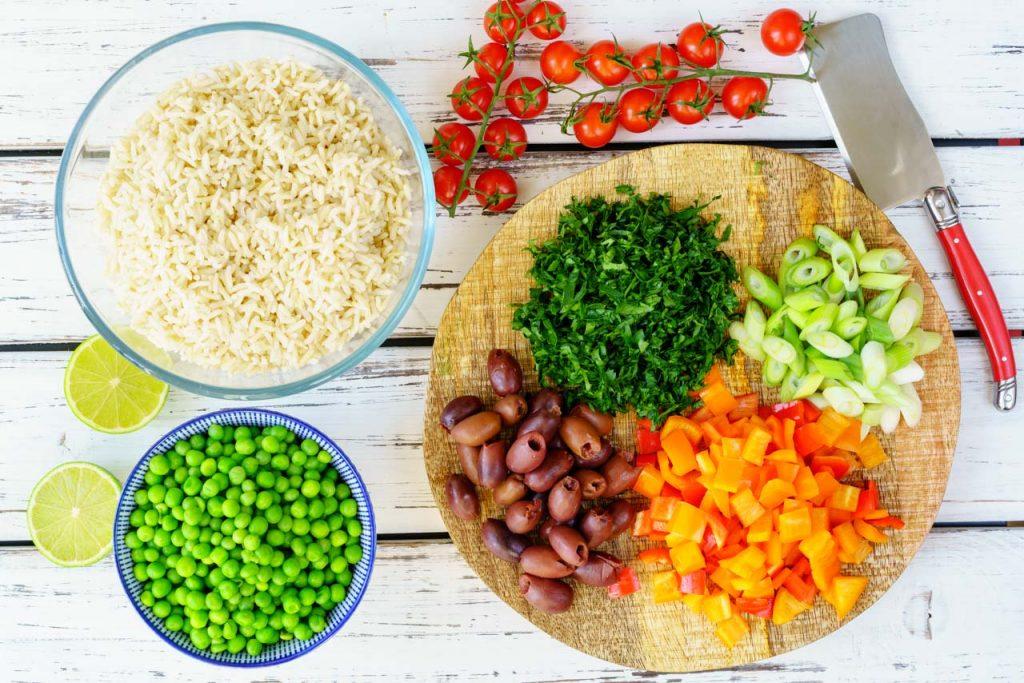 Spring Tuna Salad Ingredients