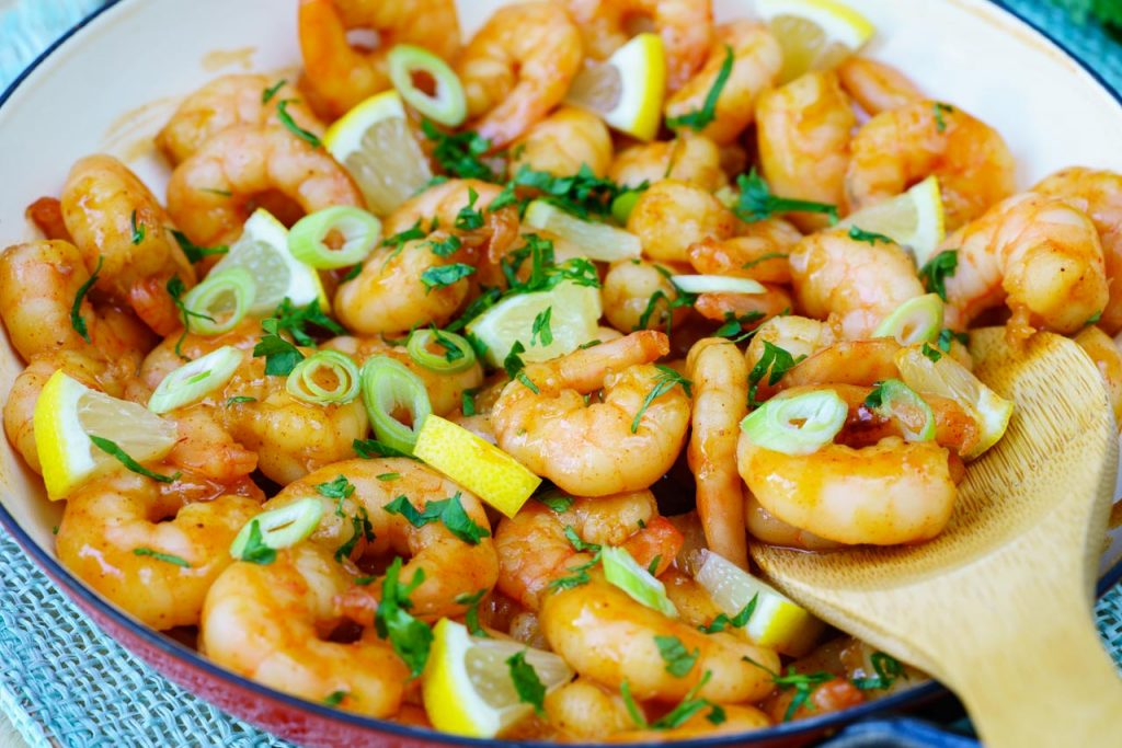 Sticky Honey Garlic Shrimp Clean Eating