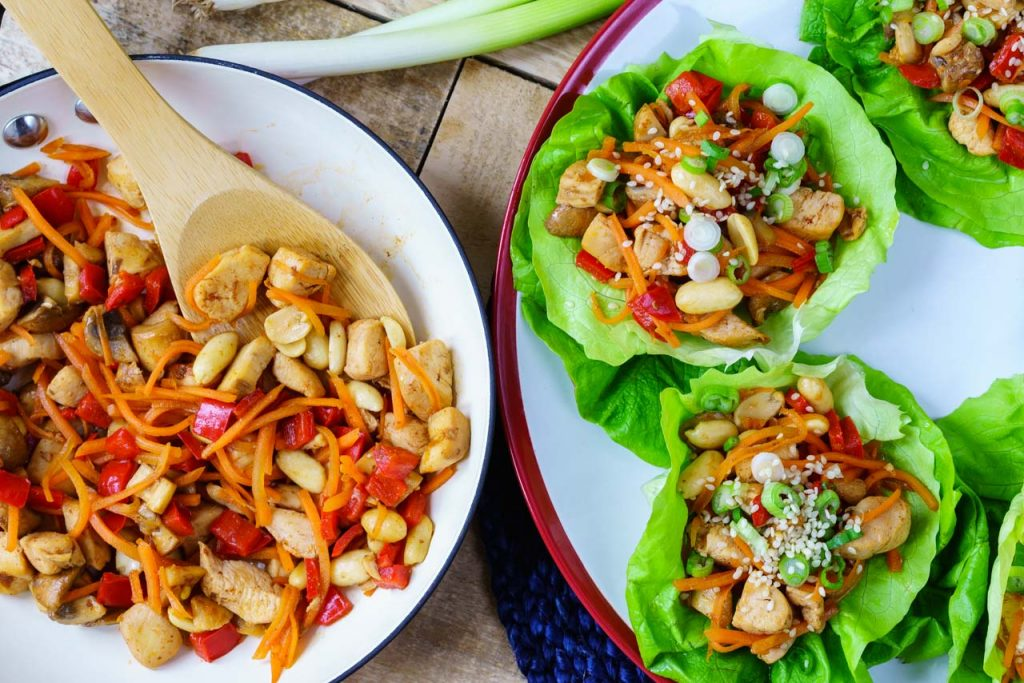 Healthy Teriyaki Chicken Lettuce Wraps