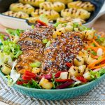 Teriyaki Chicken Salad Recipe + Homemade Pineapple Sauce CleanFoodCrush