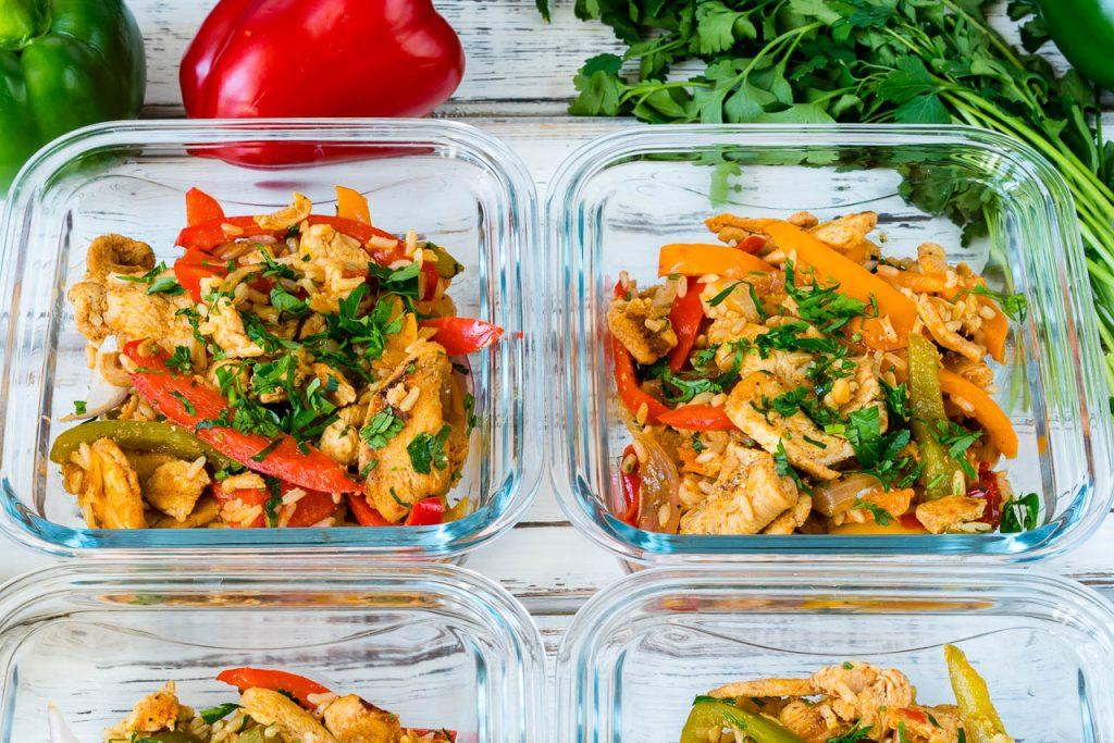15 Minute Skillet Chicken Fajitas Meal Prep