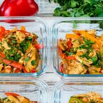 15 Minute Skillet Chicken Fajitas Meal Prep