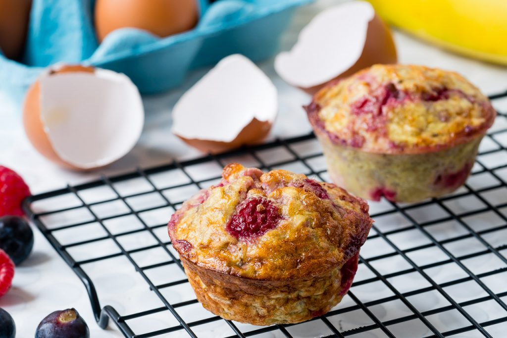 3 ingredient Banana Egg Muffins
