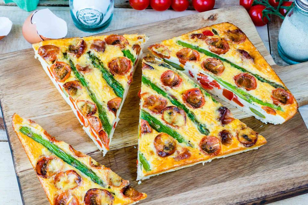 Real Food Recipe Asparagus Tomato Frittata